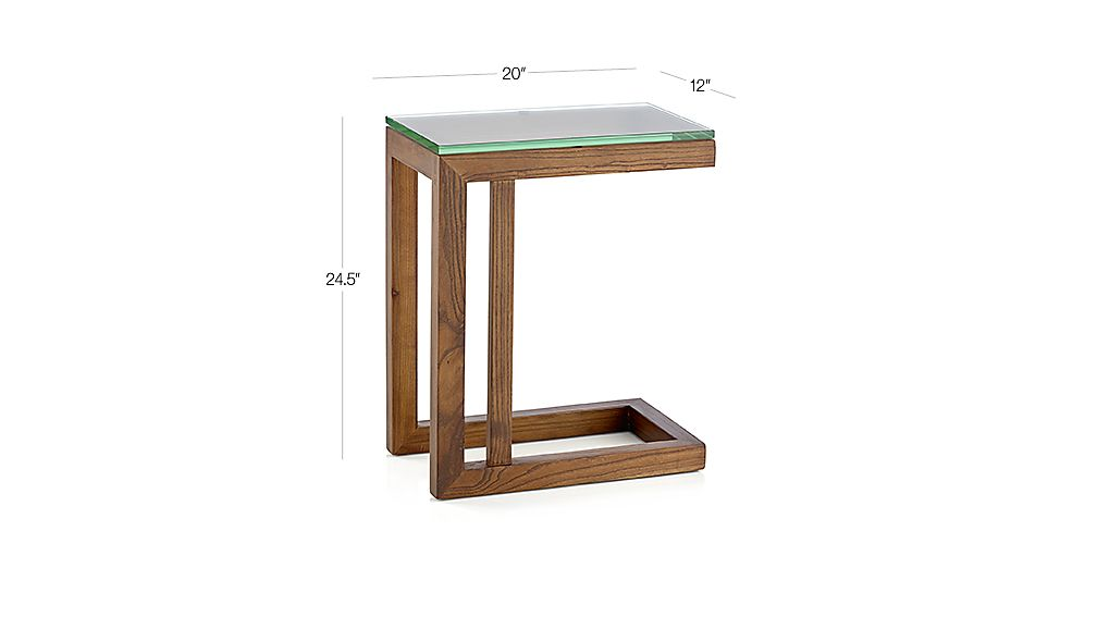Parsons Coffee Table Crate And Barrel Parsons Elm C Table with Clear Glass Top   Crate and Barrel
