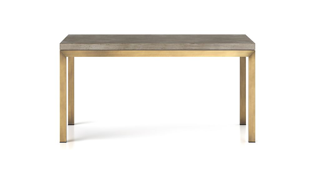 Parsons Concrete Top/ Brass Base 48x28 Dining Table