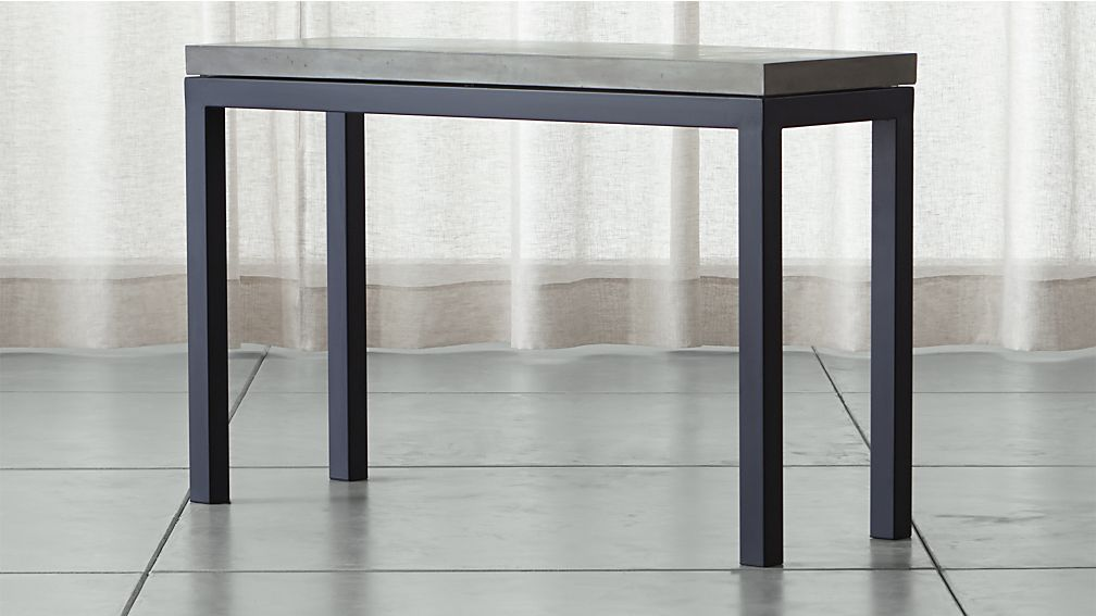 Parsons Concrete Top/ Dark Steel Base 48x16 Console ...