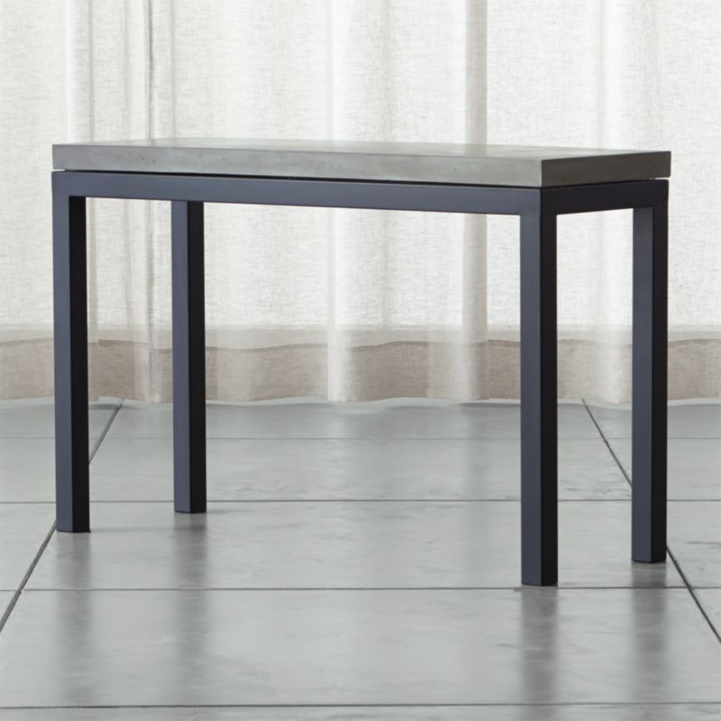 Parsons Concrete Top Dark Steel Base 48x16 Console