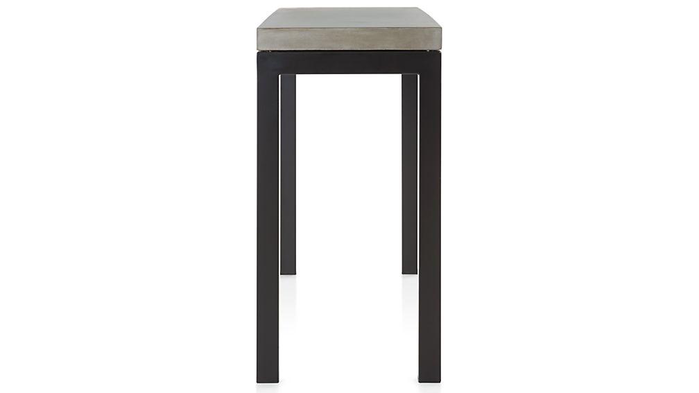 Parsons Concrete Top/ Dark Steel Base 48x16 Console