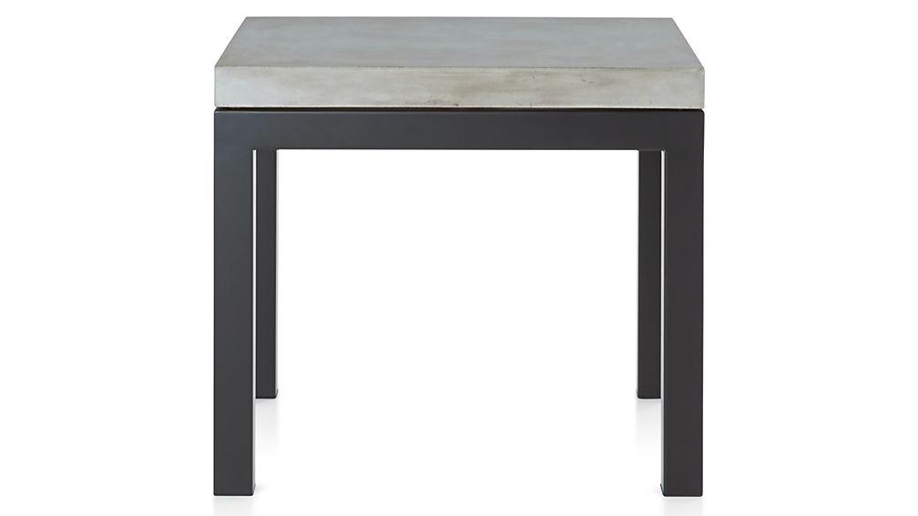 Parsons Concrete Top/ Dark Steel Base 20x24 End Table