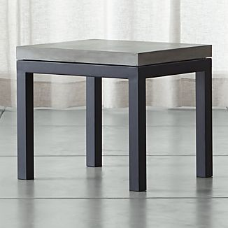 Parsons Concrete Top/ Dark Steel Base 20x24 End Table