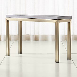 Parsons Concrete Top/ Brass Base 48x16 Console