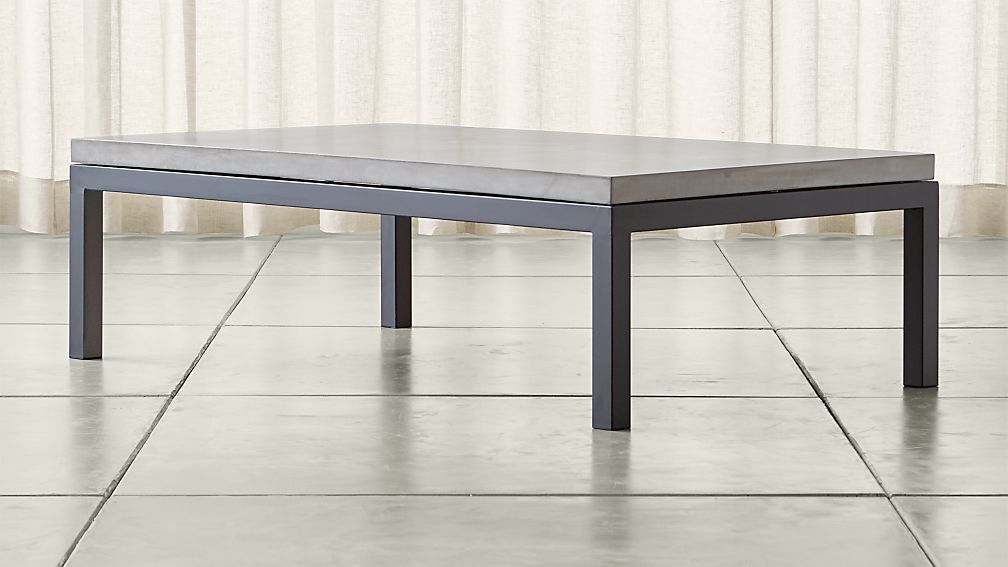 Parsons Concrete Top Dark Steel Base X Large Rectangular Coffee - Rectangular concrete coffee table