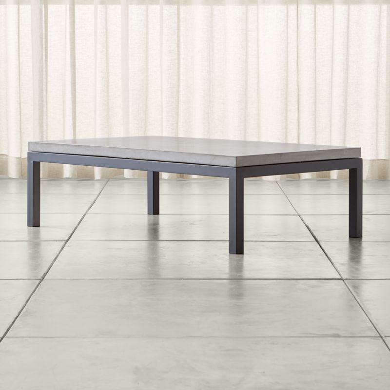 small rectangle coffee table. Parsons Concrete Top/ Dark Steel Base 60x36 Large Rectangular Coffee Table + Reviews | Crate And Barrel Small Rectangle
