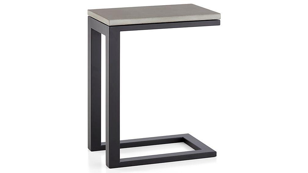 Parsons Concrete Top/ Dark Steel Base 20x12 C Table