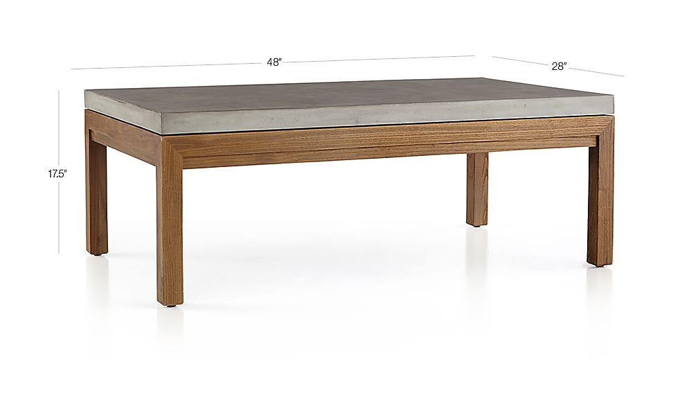 Parsons Concrete Top/ Elm Base 48x28 Small Rectangular ...