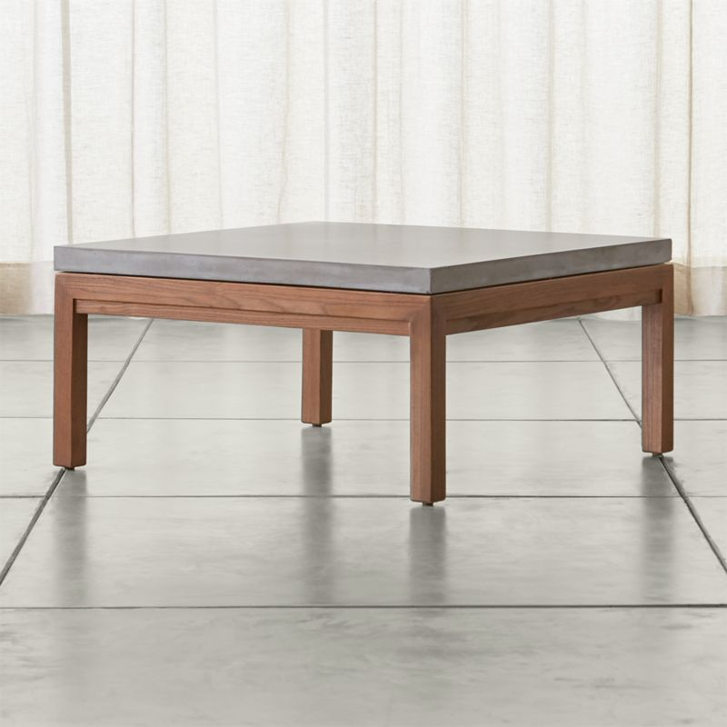 minimal wood coffee table parsons tables crate and barrel