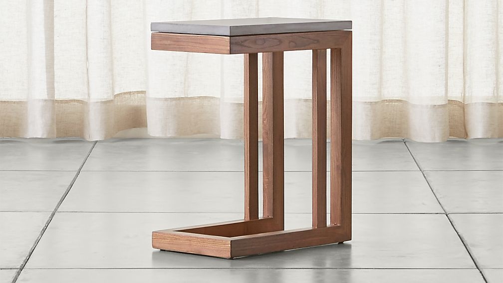 Parsons Concrete Top Elm Base 20x12 C Table Crate And
