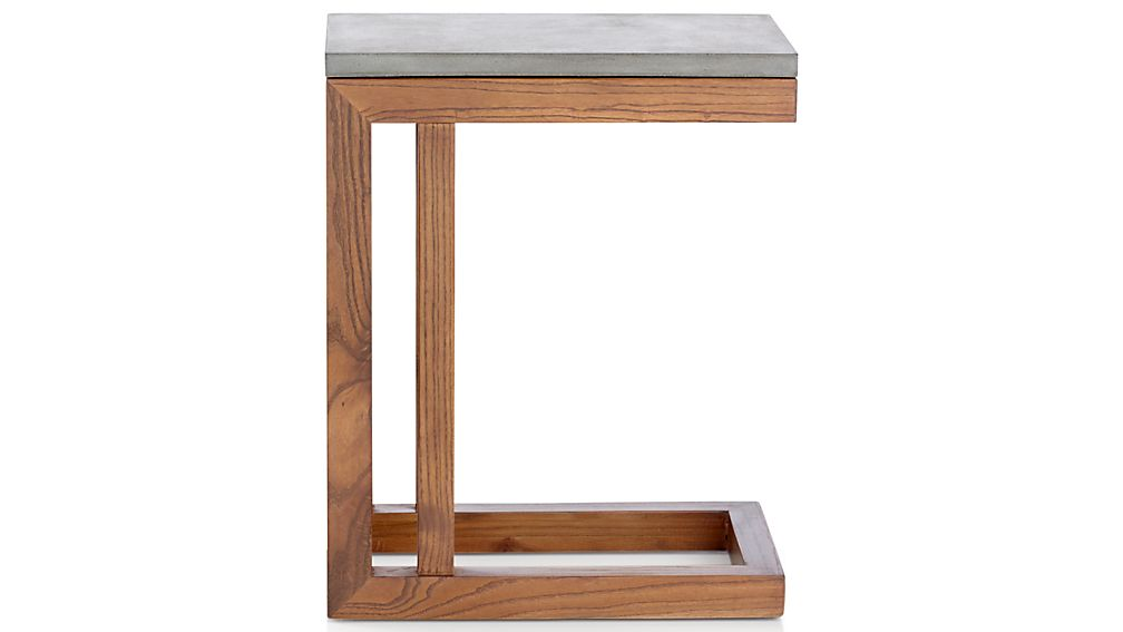 Parsons Concrete Top/ Elm Base 20x12 C Table