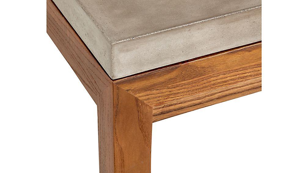 Parsons Concrete Top/ Elm Base 36x36 Square Coffee Table