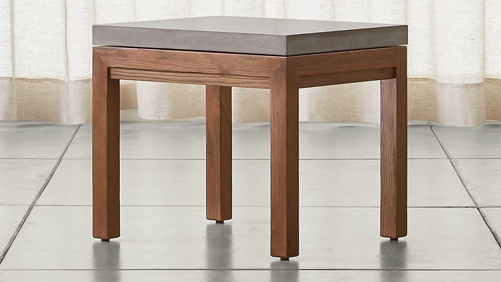 Parsons Concrete Top/ Elm Base 20x24 End Table