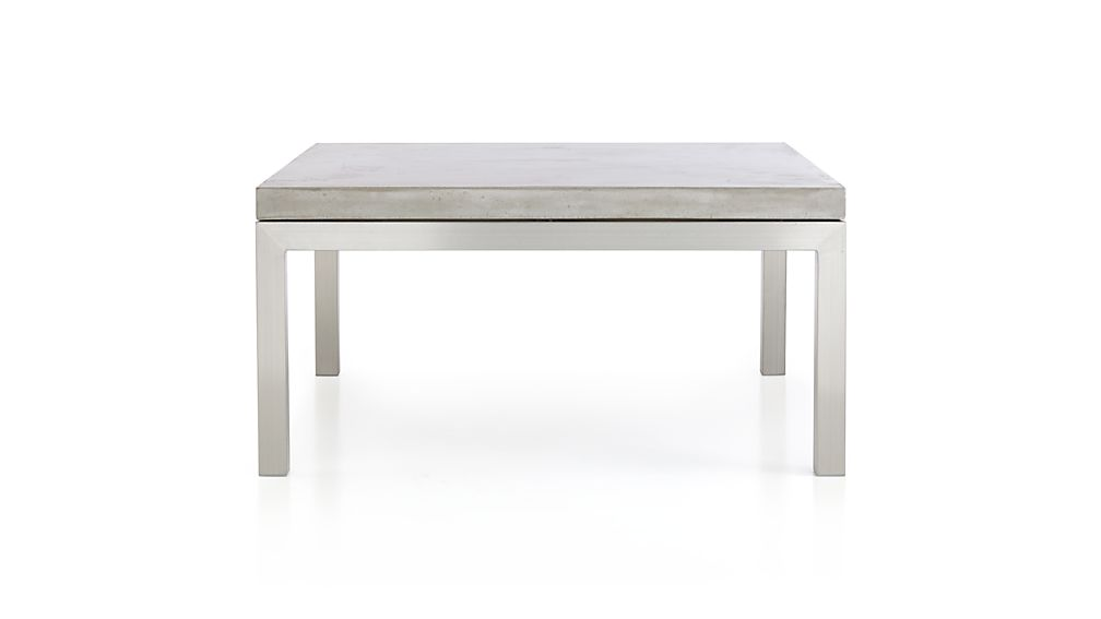 Parsons concrete top stainless steel base 36x36 square for 36x36 coffee table