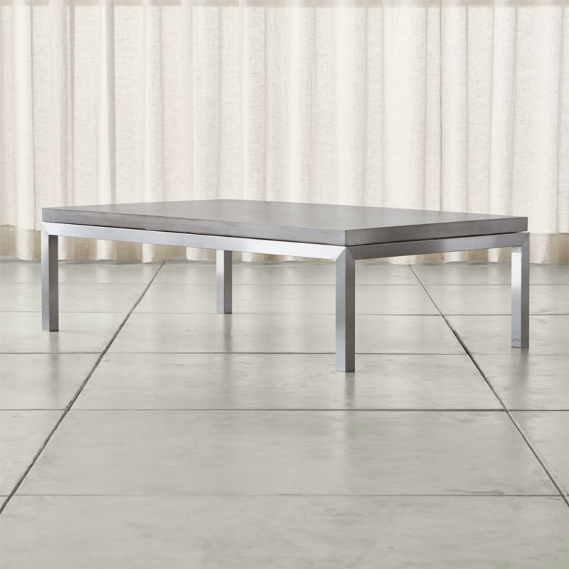 Parsons Concrete Top Stainless Steel Base 60x36 Large