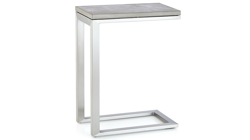Parsons Concrete Top/ Stainless Steel Base 20x12 C Table