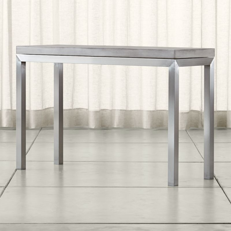 parsons concrete top stainless steel base 48x16 console