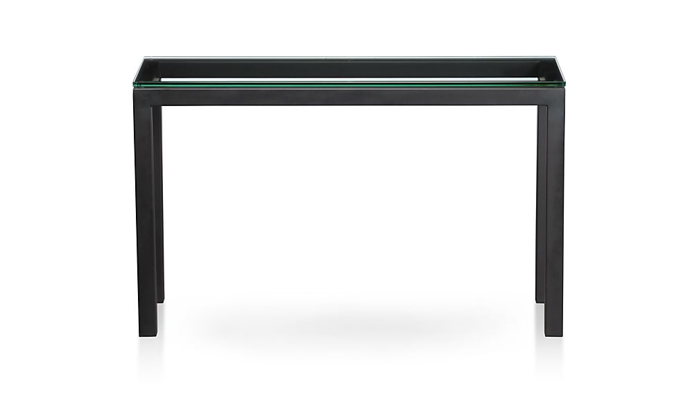 ... Parsons Console Table With Glass Top ...