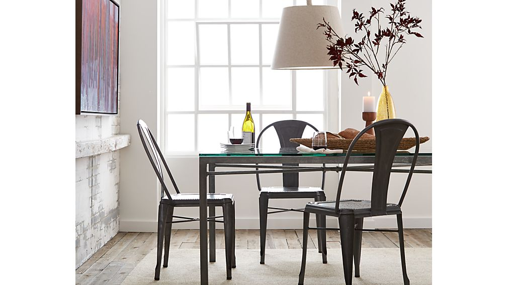 Lyle metal dining chair crate and barrel - Crate and barrel parsons chair ...
