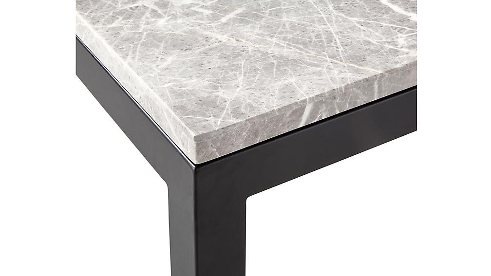 Parsons Grey Marble Top/ Dark Steel Base 48x16 Console
