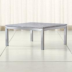 Parsons Grey Marble Top Dark Steel Base 60x36 Large