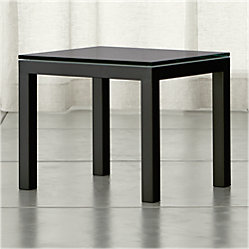 Parsons Grey Glass Top Dark Steel Base 48x16 Console