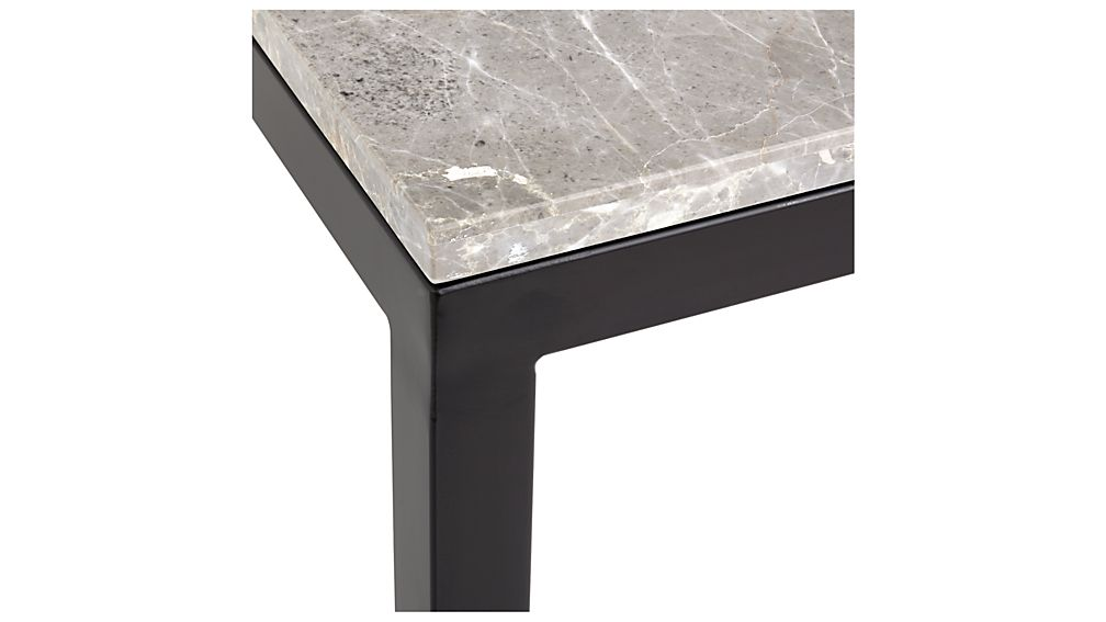 Parsons Grey Marble Top/ Dark Steel Base 60x36 Large Rectangular Coffee Table