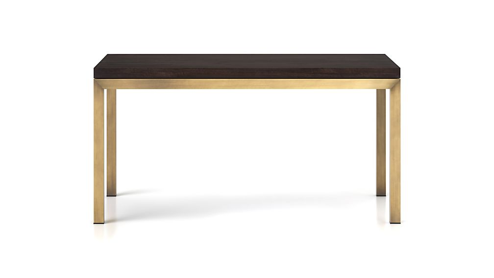 Parsons Pine Top/ Brass Base 72x42 Dining Table
