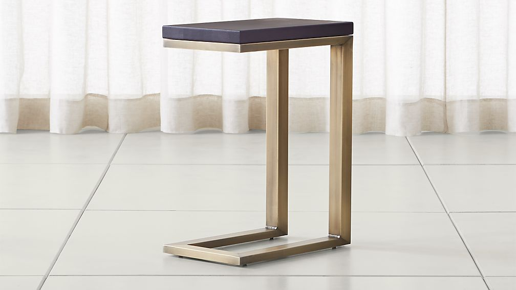 Parsons Pine Top/ Brass Base 20x12 C Table