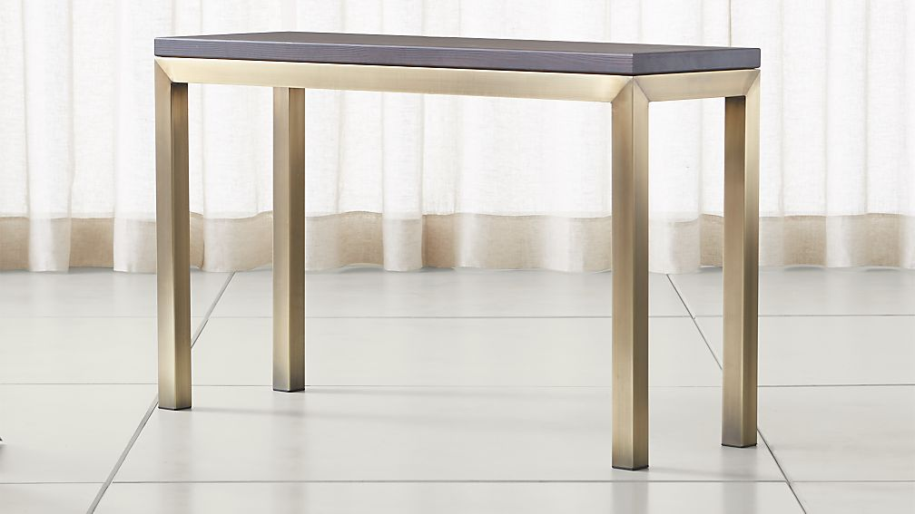Parsons Pine Top/ Brass Base 48x16 Console