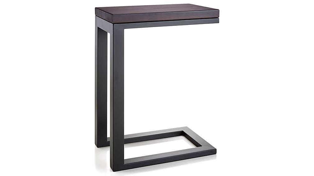 Parsons Pine Top/ Dark Steel Base 20x12 C Table