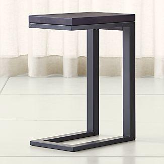 Parsons Pine Top/ Dark Steel Base 20x12 C Table