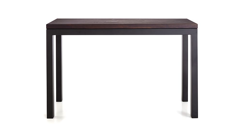 Parsons Pine Top/ Dark Steel Base 48x16 Console
