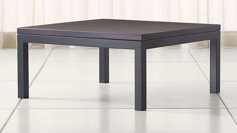 Parsons Pine Top/ Dark Steel Base 36x36 Square Coffee Table
