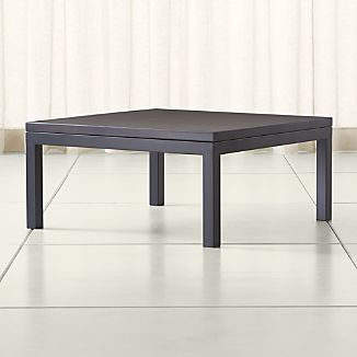 Parsons Pine Top/ Dark Steel Base 36x36 Square Coffee Table