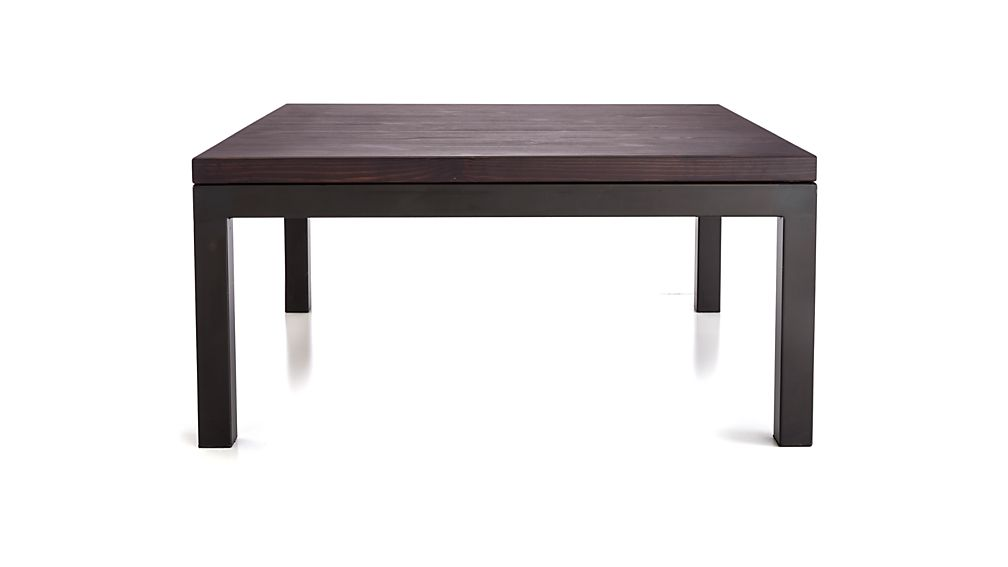 Square Outdoor Coffee Table Part - 37: ... Parsons Pine Top/ Dark Steel Base 36x36 Square Coffee Table