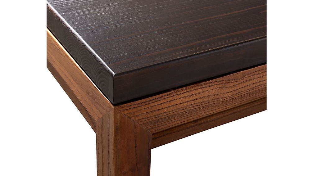 Parsons Pine Top Elm Base 48x28 Small Rectangular Coffee Table