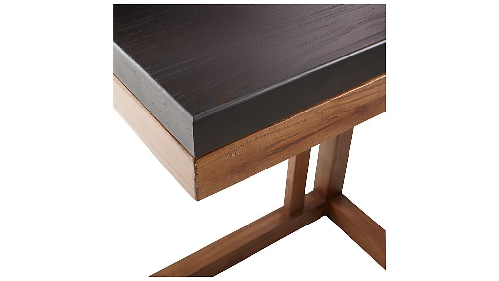 Parsons Pine Top/ Elm Base 20x12 C Table