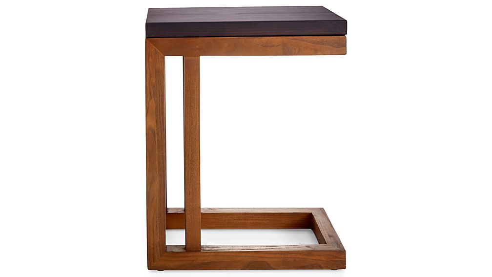 Parsons Pine Top/ Elm Base 20x12 C Table
