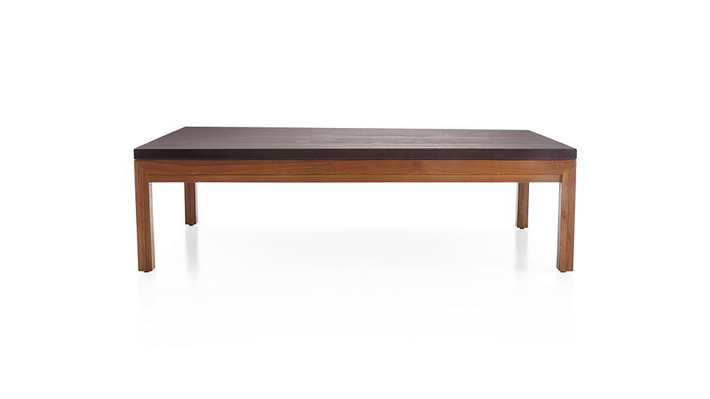 Parsons Pine Top/ Elm Base 60x36 Large Rectangular Coffee Table