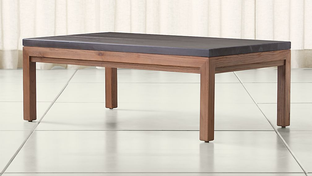 Parsons Pine Top/ Elm Base 48x28 Small Rectangular Coffee Table