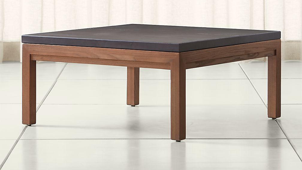 Parsons Pine Top Elm Base 36x36 Square Coffee Table Crate And Barrel