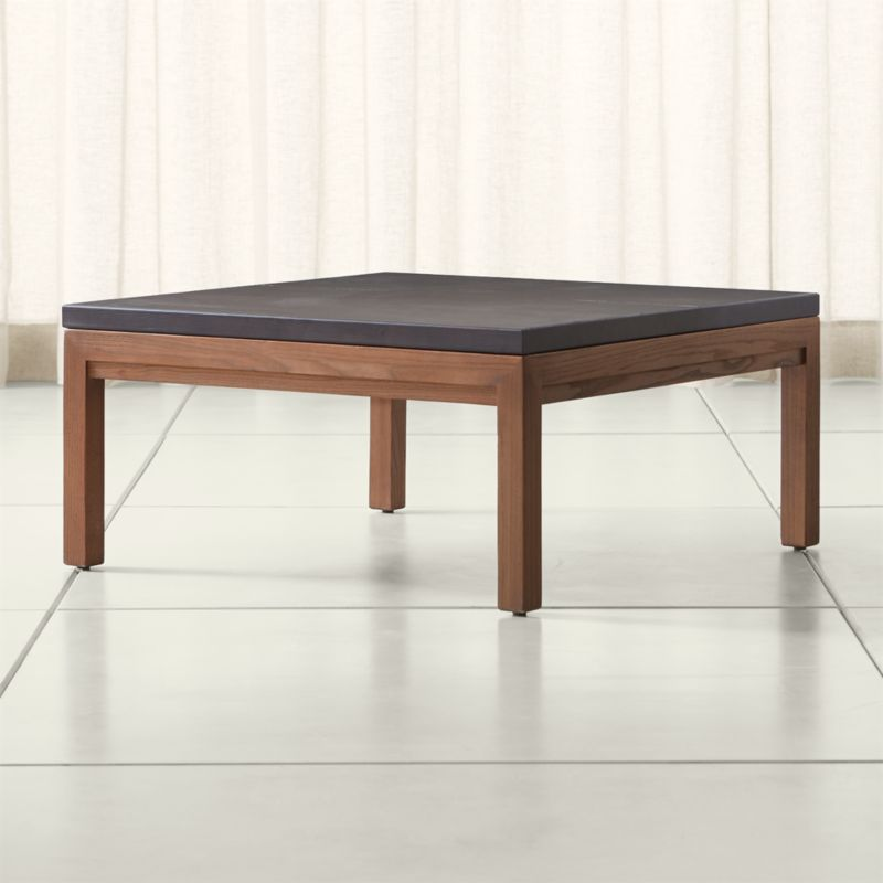Parsons pine top elm base 36x36 square coffee table in for 36x36 coffee table