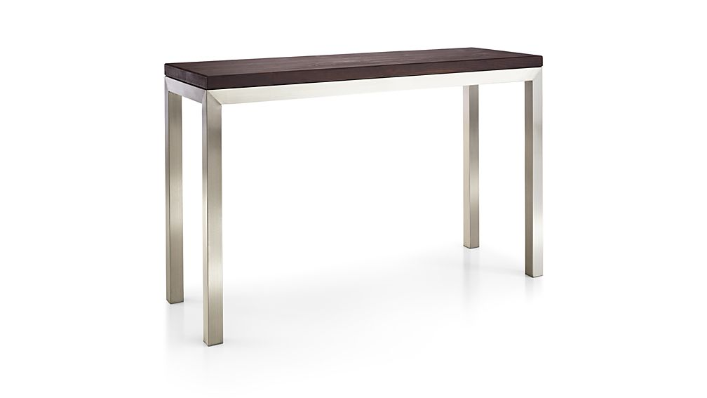 Parsons Pine Top/ Stainless Steel Base 48x16 Console
