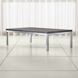 black rectangle coffee table. Parsons Pine Top/ Stainless Steel Base 60x36 Large Rectangular Coffee Table Black Rectangle E