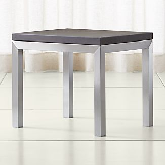 Parsons Pine Top/ Stainless Steel Base 20x24 End Table