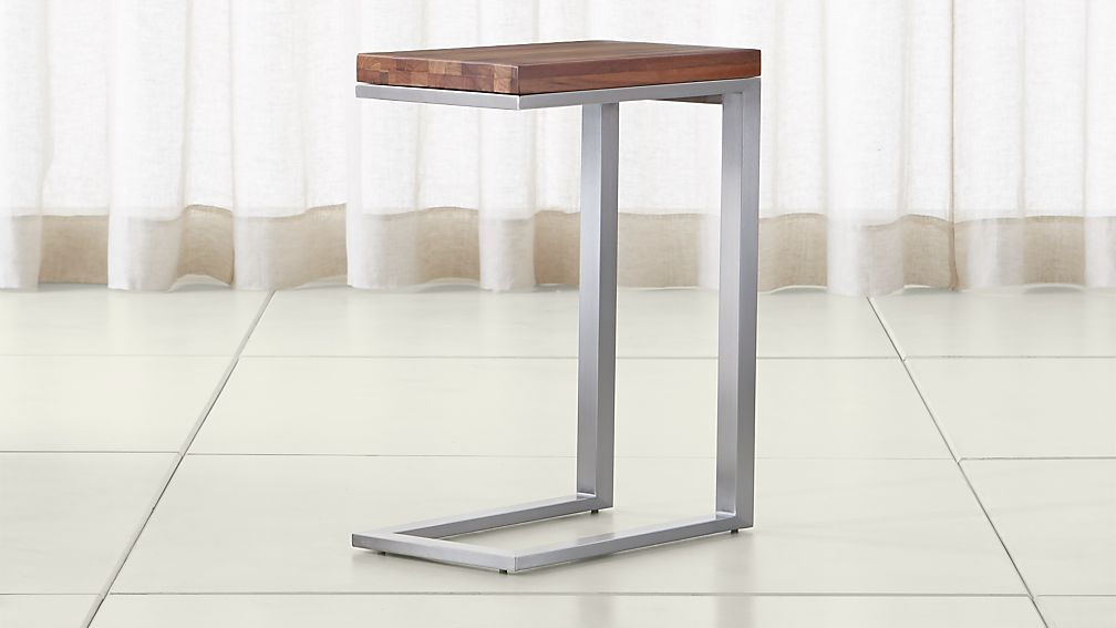 Parsons Reclaimed Wood Top/ Stainless Steel Base 20x12 C Table