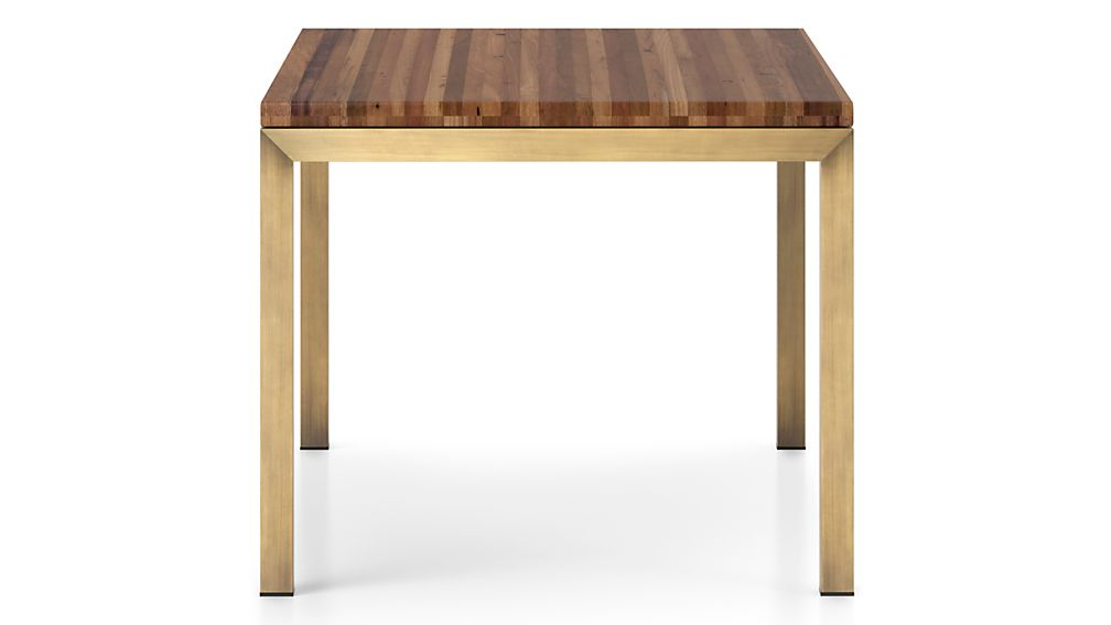 Parsons Reclaimed Wood Top/ Brass Base 48x28 Dining Table