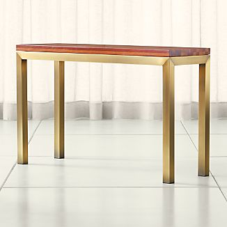 Parsons Reclaimed Wood Top/ Brass Base 48x16 Console