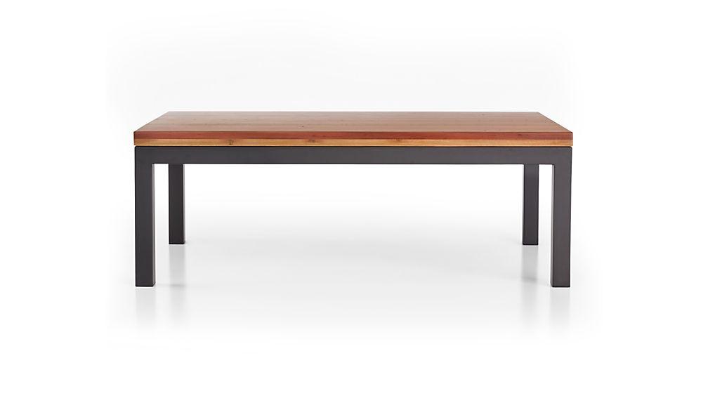 Parsons Reclaimed Wood Top/ Dark Steel Base 48x28 Small